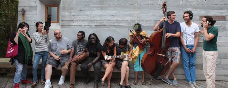 Group of Musicians sit together
