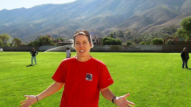 Amanda Cromwell speaks on the importance of both teamwork and hard work after a soccer practice in Argentina.