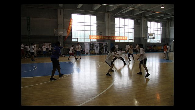 Tamika Raymond teaches girls at Shenyang Physical Education College in China.
