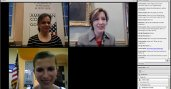 Screenshot Photo of American Corner Coordinators Sharing IVLP Experience in Virtual Exchange