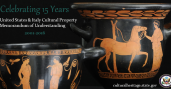 Jars and with primitive drawings of people on them and a graphic title reads: Celebrating 15 Years